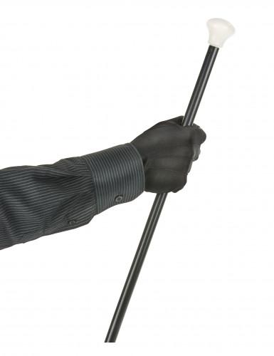 Sorte handsker med knap til voksne-1