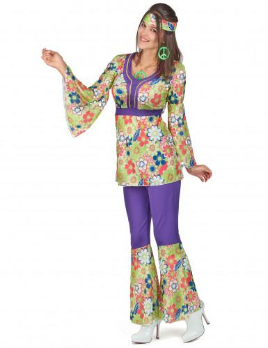 Disko hippiekostume til kvinder-1