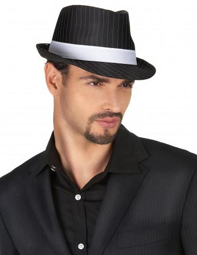 Sortstribet gangster hat til voksne-1