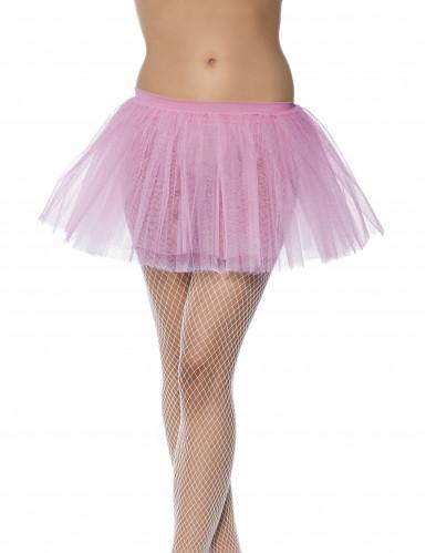 Lyserød ballerinanederdel til kvinder