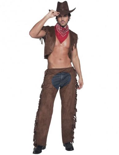 Sexet cowboy-kostume herrestørrelse