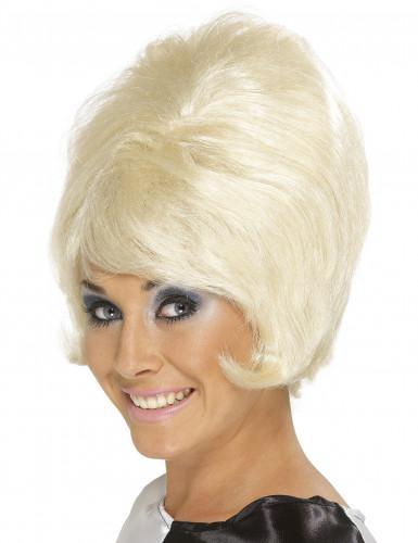 Kruset blond paryk til dame