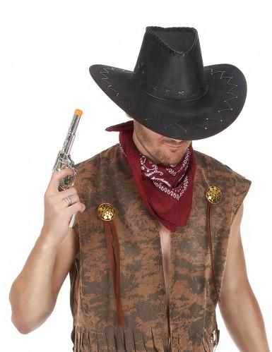 Vinrød bandana til cowboys-1