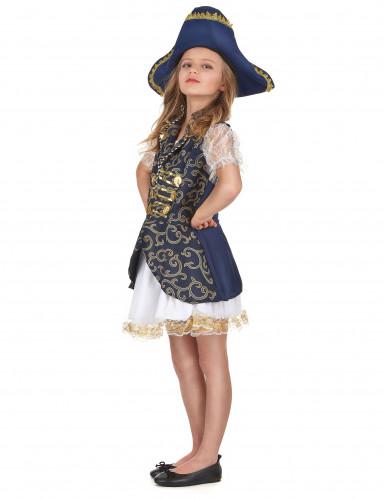 Mørkeblåt piratkostume piger-1