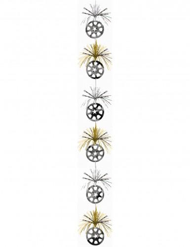 Dekoration hængende sølv og guld