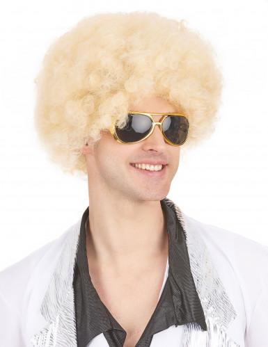 Blond afroparyk voksen-3