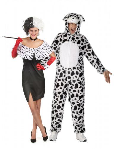 Parkostume Cruella og hendes dalmatiner