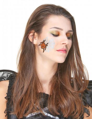 Makeup med pailletter og tatoveringer Halloween-1