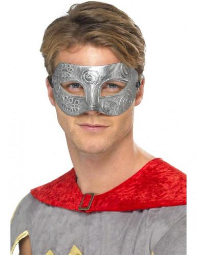 Maske metalisk farve voksen