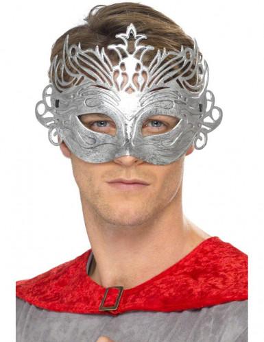 Venetiansk maske metallisk farve voksen