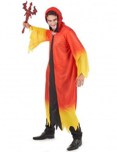 Gult og rødt djævlekostume til mænd - Halloweenkostume-1