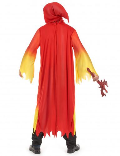 Gult og rødt djævlekostume til mænd - Halloweenkostume-2