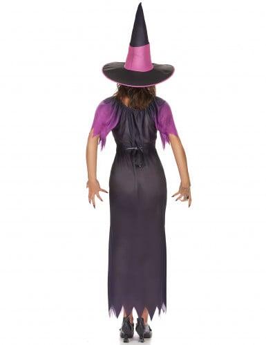 Lilla og sort heksekostume til kvinder-2