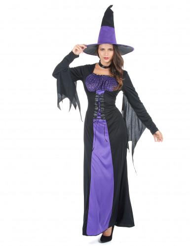 Sort og lille heksekjole til kvinder - Halloween