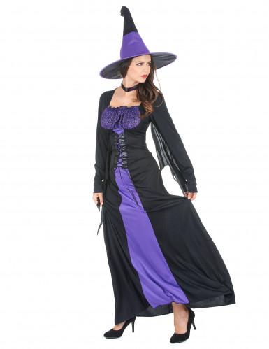 Sort og lille heksekjole til kvinder - Halloween -1