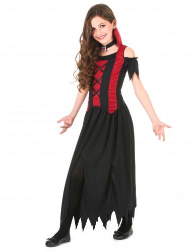 Halloween vampyr-kostume til piger-1