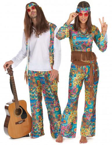 Parkostume hippie knæhøj karse