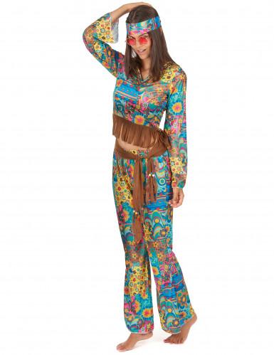Parkostume hippie knæhøj karse-2