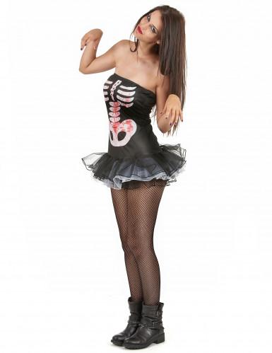Sexet skeletdragt Halloween Kvinder-1