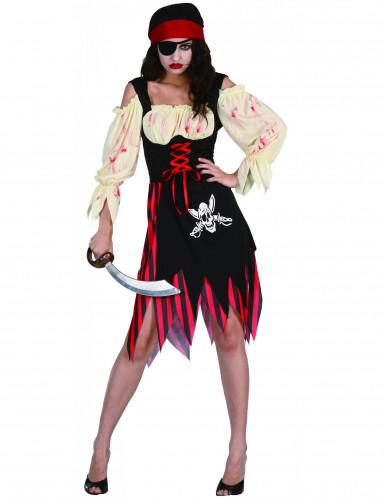 Zombiepiratdragt Halloween Damer