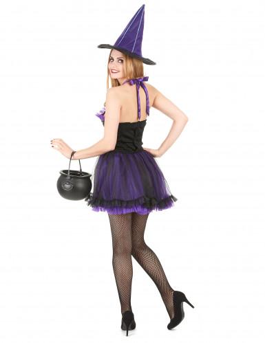 Lilla heksekostume Kvinde Halloween-2