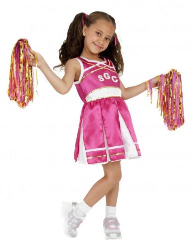 Udklædning lyserød og guld Cheerleader