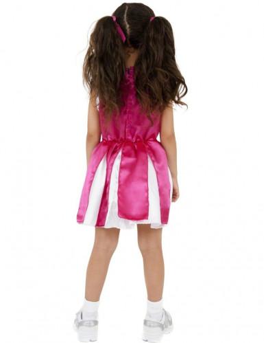 Udklædning lyserød og guld Cheerleader-1