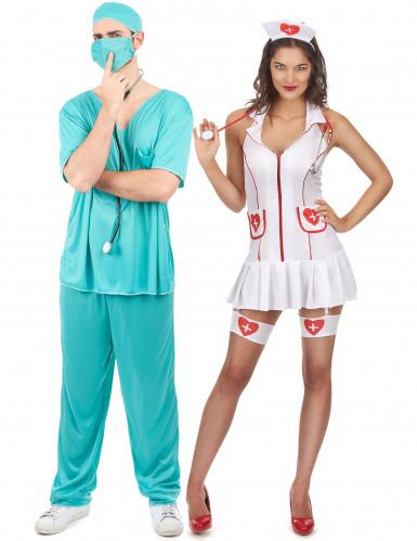 Parkostume sygeplejerske og læge