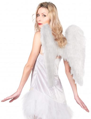Hvide vinger 50 x 50 cm voksen