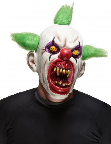 Skræmmende klovnemaske Halloween voksen