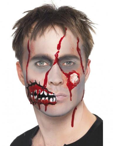 Halloween zombie sminkesæt til voksne -3