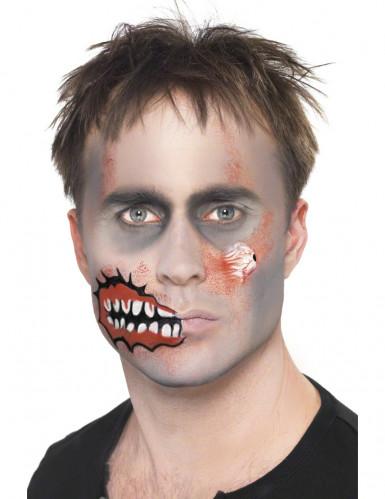 Halloween zombie sminkesæt til voksne -2