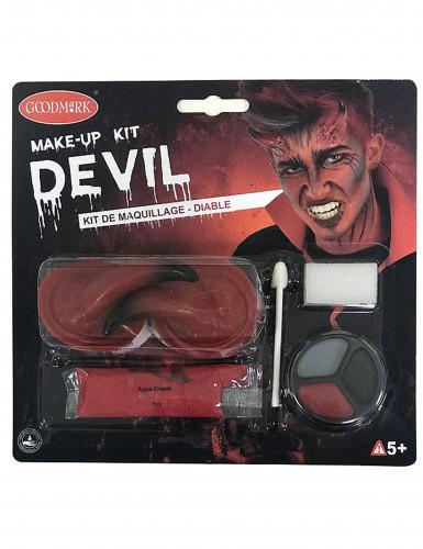 Sminkesæt djævel Halloween voksen-1