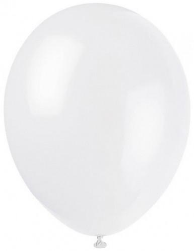 12 hvide balloner 28 cm
