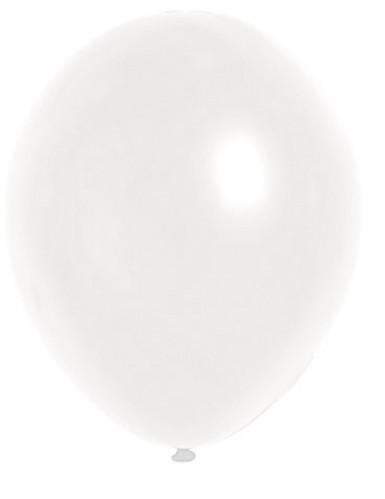 100 balloner metallisk hvide 29 cm