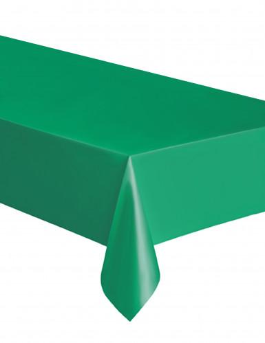 Smaragdgrøn rektangulær plastikdug