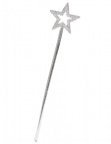 Tryllestav med sølvstjerne til voksne og børn