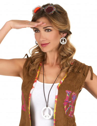 Hippiehalskæde og øreringe voksne-1