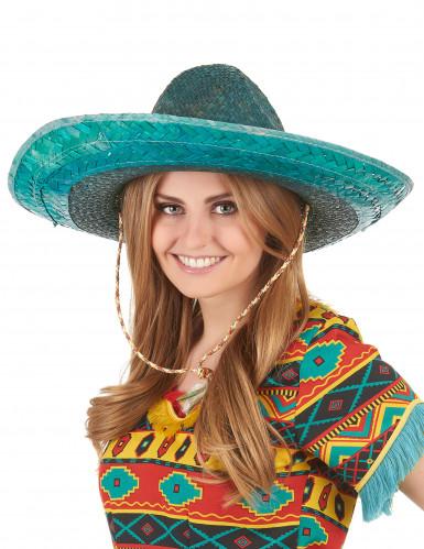 Grøn mexicansk sombrero til voksne-2