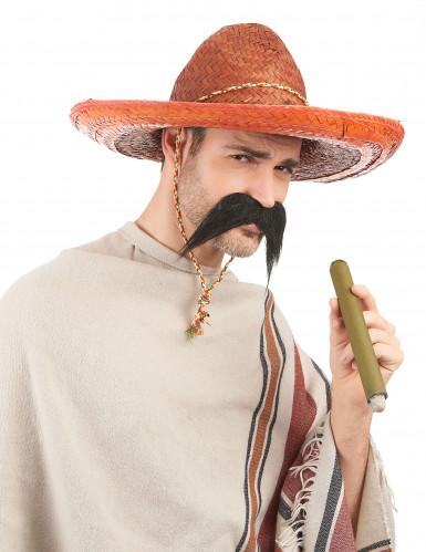 Orangefarvet mexicansk sombrero til voksne-1