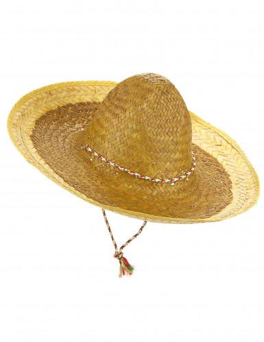 Gul mexicanskinspireret sombrero til voksne