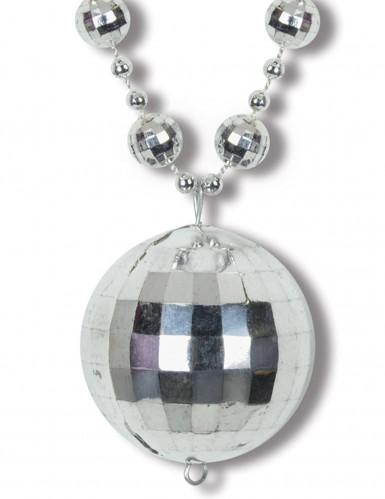 Sølvhalskæde med discokugle-1
