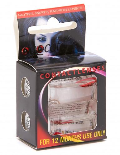 Kontaktlinser med spindelvæv i sort og hvid voksne Halloween-1