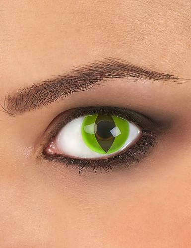 Kontaktlinser med reptilprofil i grøn voksne Halloween