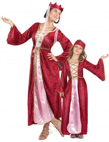 Parkostume middelalderdronninger mor og datter