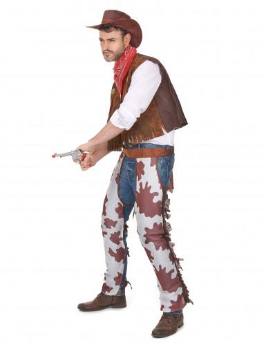 Par kostume cowboy far og søn-1