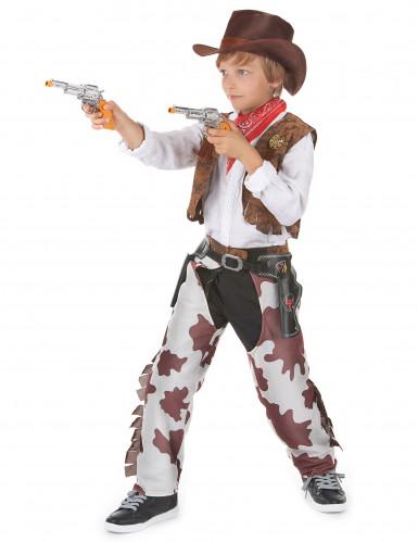 Par kostume cowboy far og søn-2