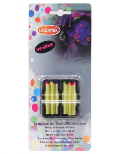 6 sminkefarver neon UV
