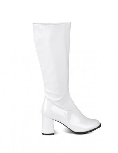 Lakstøvler hvide kvinde