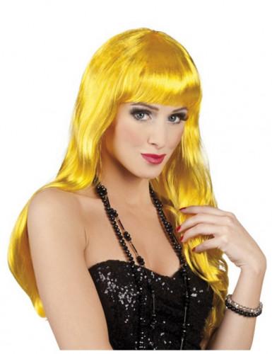 Paryk lang gul kvinde